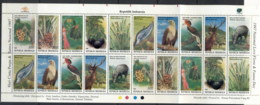 Indonesia 1997 Flora & Fauna (folded) Sheetlet MUH - Indonesia