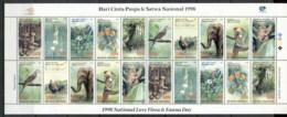 Indonesia 1998 Flora & Fauna (folded) Sheetlet MUH - Indonesia