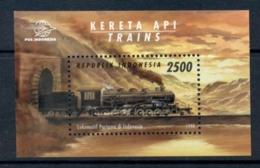 Indonesia 1998 Trains MS MUH - Indonesia