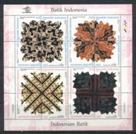 Indonesia 1999 Batik Designs Sheetlet MUH - Indonesia