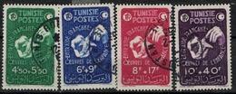 TUNISIE       N°  YVERT     320/323  OBLITERE       ( O   2/26 ) - Oblitérés