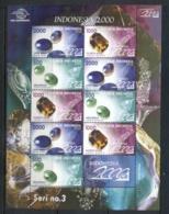 Indonesia 1999 Gemstones & Minerals MS MUH - Indonesia