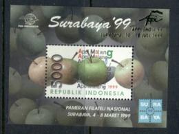 Indonesia 1999 Surabaya Stamp Ex, Fruit MS MUH - Indonesia