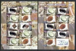 Indonesia 2000 Gemstones & Minerals 2x MS MUH - Indonesia