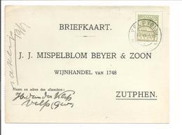 Emissie Veth 5 Cent Briefkaartuitknipsel. Velp 19.7.1930 - Periodo 1891 – 1948 (Wilhelmina)