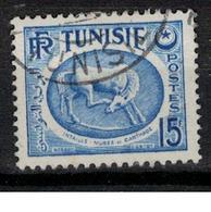 TUNISIE       N°  YVERT     345  A   OBLITERE       ( O   2/28 ) - Oblitérés