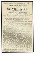 DP 8034 - SYLVIE EXTER - EESEN 1858 + ZARREN 1939 - Devotieprenten