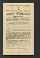 DP 8036 - AUGUST PAESBRUGGHE - ZARREN 1857 + 1934 - Devotieprenten