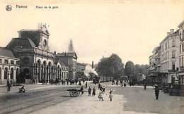 Namur - Place De La Gare (top Animation, Tram Vapeur, Nels, Vue Choisie De La Vallée De La Meuse) - Namur