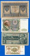 Russie  9  Billets - Russia