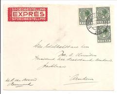 Emissie Veth 5 Cent 3x Op Expressebrief Utrecht>Arnhem 13.6.38 - 1891-1948 (Wilhelmine)