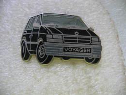 Pin's Ballard D'un Chrysler Voyager De Couleur Noire - Badges