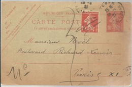 CARTE POSTALE  DIEPPE 1921 - Enteros Postales