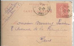 CARTE LETTRE ALFONVILLE 1929 - Enteros Postales