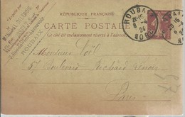 CARTE POSTALE ROUBAIX 1924 - Enteros Postales