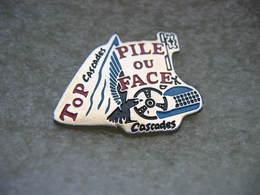 Pin's Courses, Rallyes Automobiles: PILE Ou FACE,Top Cascades - Rallye