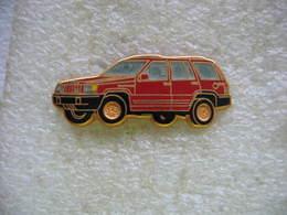 Pin's Ballard, Jeep De Chez Chrysler De Couleur Rouge - Badges
