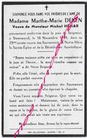 En 1959 Steenwerck (59) Marthe DEKEN Ep Michel HEMAR 73 Ans - Décès