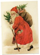 CPM   FINLAND     HYVAA JOULUA     PERE NOEL     AVEC SA HOTTE SUR SON DOS - Santa Claus