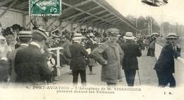 91 - Juvisy - Port Aviation - Aéroplane De Tissandier Passant Devant Les Tribunes - Juvisy-sur-Orge
