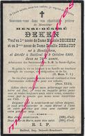 En 1909 Hondeghem Et Bailleul (59) Henri DEKEN Ep Mélanie DECHERF Et Rosalie DEHAUT 70 Ans - Décès