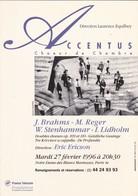 CARTE'COM---PARIS--1996--Accentus  Choeur De Chambre--voir 2 Scans - Opéra