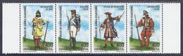 UNIFORMES MILITARES - GUINEA ECUATORIAL 2002 - Edifil #288/91 - MNH ** - Militares