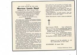 DP 8052 - LEONIE HAEST - BOVEKERKE 1902 + OOSTENDE 1958 - Devotieprenten
