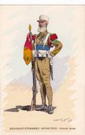2 CPA - MILITARIA - REGIMENT-ETRANGER D'INFANTERIE LEGION ETRANGERE - Lot De 2 Cartes - TAMBOUR Et GDE TENUE Toussaint I - Regimente