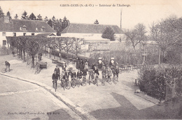 BAD- BOISSY SAINT LEGER  GROS BOIS INTERIEUR DE L'AUBERGE DES CYCLISTES         CPA  TRES RARE - Boissy Saint Leger