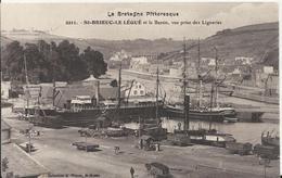 Carte Postale Ancienne De Saint Brieuc Le Légué Et Le Bassin Vue Prise Des Ligneries - Saint-Brieuc