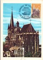 Europa 1972 - Cathédrale Aix-la-Chapelle Aachen - Conseil De L'Europe Strasbourg - Maximumkarten
