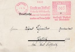 Freistempel: Denke An Bethel!!!, Mehr Als 6000 Kranke ... 1934 - Alemania
