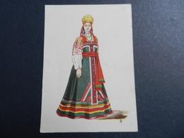 19956) COSTUME TIPICO RUSSO RUSSIA ILLUSTRATORE NON RILEVATO NON VIAGGIATA - Russia