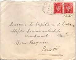 FMV Forces Motrices De La Vienne 1942 Sur Pétain - Paris Perforé - Francia
