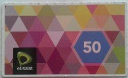 "Egypt - Etisalat Small Size Phone Card ""USED"" 50 LE   (Egypte) (Egitto) (Ägypten) (Egipto) (Egypten) Afric - Egypt"
