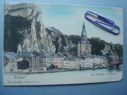 DINANT : La Citadelle Et L'église En Couleur En 1903 - Dinant