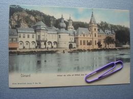 DINANT : Hôtel De Ville Et Hôtel Des Postes En Couleur En 1903 - Dinant