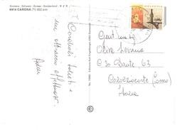 CARONA CARTOLINA X ITALIA - Storia Postale