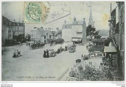 50 SAINT-PAIR-SUR-MER. La Place Du Marché 1905 - Saint Pair Sur Mer