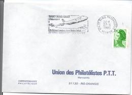 Saint-Denis Messageries 1985 Réunion - Flamme Aéroport St-Denis Gillot - Boeing 747 - Reunion Island (1852-1975)