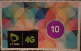 "Egypt - Etisalat Small Size Phone Card ""USED"" 10 LE   (Egypte) (Egitto) (Ägypten) (Egipto) (Egypten) Africa - Egypt"