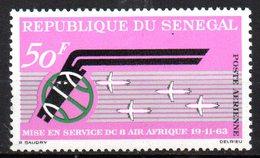 Col15 Sénégal 1963 PA  N° 38 Neuf X MH Cote : 2,30€ - Senegal (1960-...)
