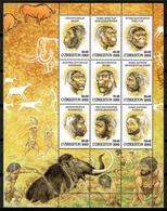 Uzbekistan 2002 / Prehistoric Man Prehistory MNH Hombre Prehistorico / Cu12125  41-33 - Prehistoria
