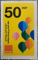 Egypt 50 Pounds- Orange - USED  (Small Size Refill Mobile Card) (Egypte) (Egitto) (Ägypten) Egipto - Egypt