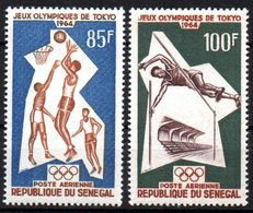 Col15 Sénégal 1964 PA  N° 43 & 44 Neuf X MH Cote : 6,50€ - Senegal (1960-...)
