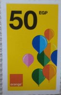 Egypt 50 Pounds- Orange - USED  (Small Size Refill Mobile Card) (Egypte) (Egitto) (Ägypten) Egipto - Egypte