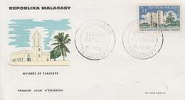 Enveloppe  FDC  1er Jour   MADAGASCAR    Mosquée   De   TAMATAVE    1967 - Madagascar (1960-...)