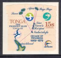 Tonga 1979 - Air Pacific Airline - Perforated Specimen - Rare - Details In Description - Unusual Shape - Tonga (1970-...)