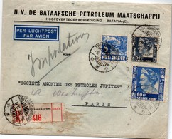 Bataviacentrum 1939 - Recommandé Registered - Indonésie Indonesia - Netherlands Indies